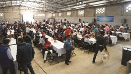 Almaden Minerals' community meeting in December 2018, with participation by representatives of the new Mexican Federal Government. This was Almaden's ninth large community meeting at Ixtaca in Puebla State since 2012, with total aggregate participation of over 4,100 people. Credit: Almaden Minerals.