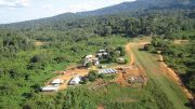 The camp at Columbus Gold's Montagne d'Or gold project in northwestern French Guiana. Credit: Columbus Gold.