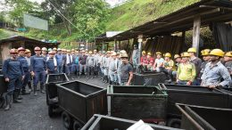 Workers at Fura Gems' Coscuez emerald mine in Colombia. Credit: Fura Gems.