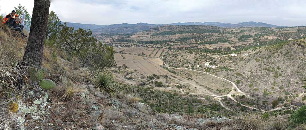 Panoramic view of Almaden Minerals' Ixtaca gold-silver project area in Mexico's Puebla State, east of Mexico City. Credit: Almaden Minerals.