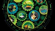 "Excerpt from cover art of Deloitte's 11th annual report, ""Tracking the trends: the top 10 issues transforming the future of mining"". Credit: Deloitte."