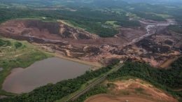 The collapsed Dam 1 at Vale's Feijao iron ore mine in Brazil's Minas Gerais state. Credit: Tweet by John O'Leary @OLjohnel.