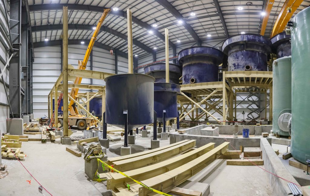 Interior work underway at the Eagle plant. Credit: Victoria Gold.