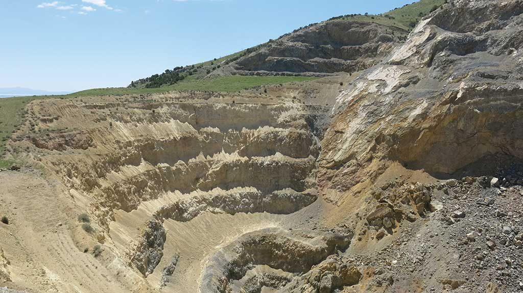View to the south of the historic C-D pit at Liberty Gold's Black Pine gold project in Idaho. Credit: Liberty Gold.