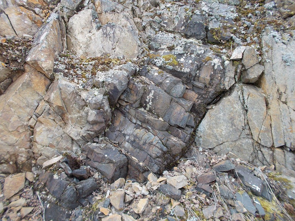 Outcropping mineralization at Casa Minerals' Pitman polymetallic project in British Columbia. Credit: Casa Minerals.