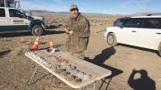 Geologist Ed Bryant at work on Viva Gold's Tonopah gold project in Nevada. Credit: Viva Gold.