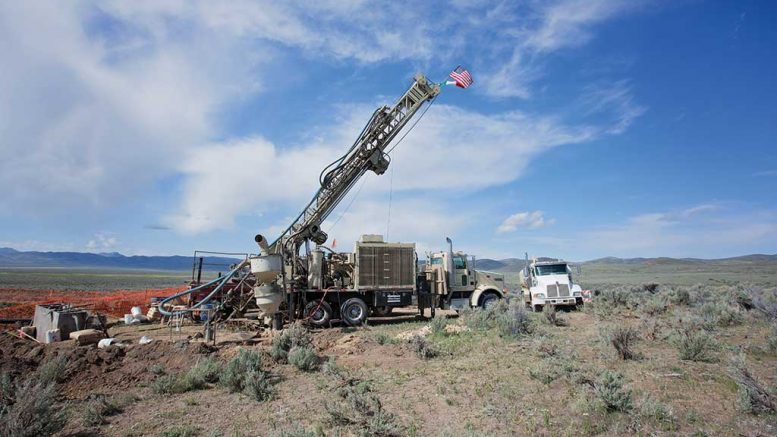A drill site at American Pacific Mining's Tuscarora gold project in Nevada. Credit: American Pacific Mining.