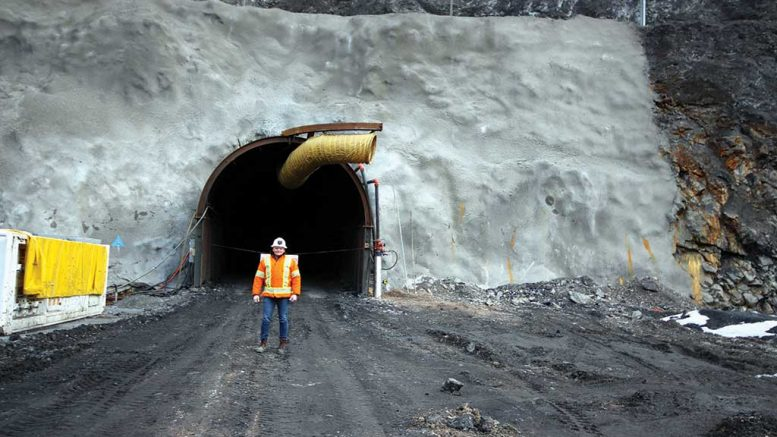 Premier Gold Mines president and CEO Ewan Downie in front of a portal at its 40%-owned South Arturo gold project in Elko County, Nevada. Credit: Premier Gold Mines.
