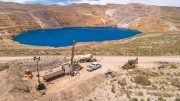 A drill site at Premier Gold Mines' past-producing Cove gold property in Nevada's Battle Mountain trend. Credit: Premier Gold Mines.