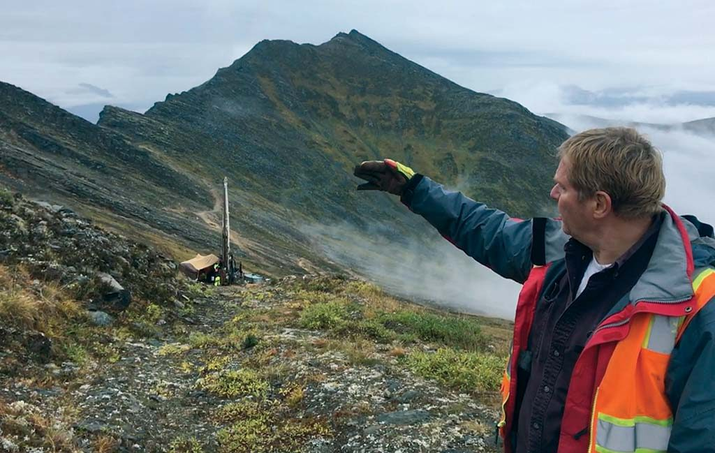 Rick Van Nieuwenhuyse, president and CEO of Vancouver-based Trilogy Metals, at the company's Arctic polymetallic project in Alaska's Ambler district. Credit: Trilogy Metals.