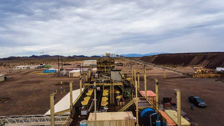 Processing facilities at Kerr Mines' Copperstone gold project in Arizona. Credit: Kerr Mines.
