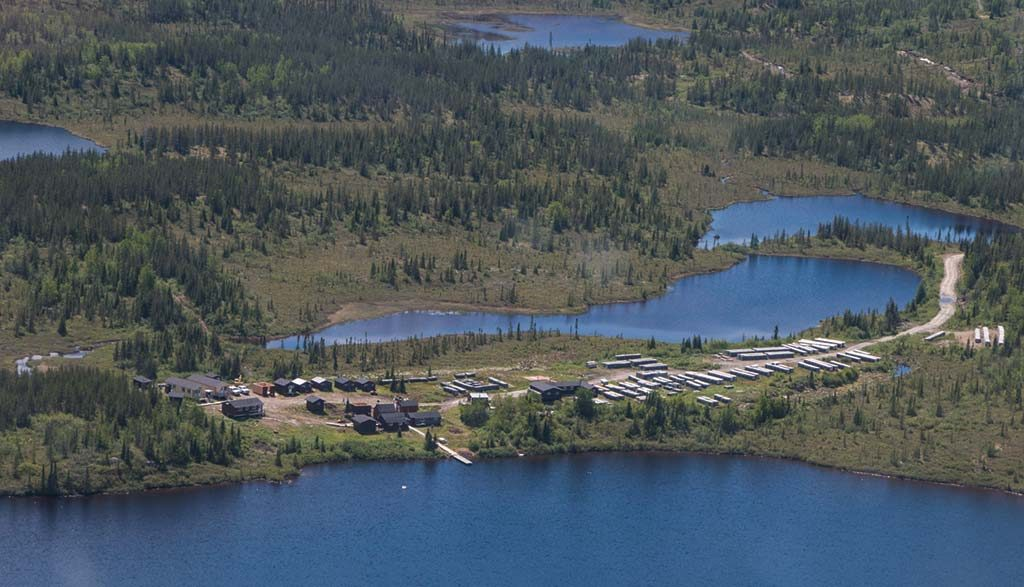 Eastmain Resources' Eau Claire gold project exploration camp in Quebec's James Bay region. Credit: Eastmain Resources.