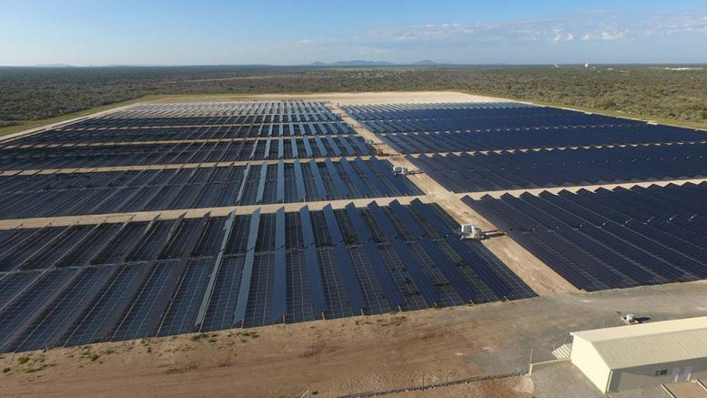 A solar power plant at B2Gold's Otjikoto gold mine in Namibia. Photovoltaic technology is a growing source of silver demand, according to The Silver Institute. Credit: B2Gold.