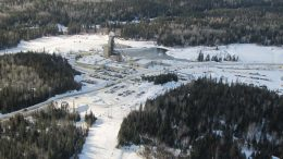 A headframe at Kirkland Lake Gold's Macassa gold mine in northeastern Ontario. Credit: Kirkland Lake Gold.