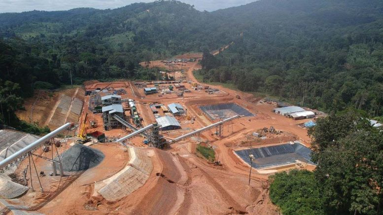 Alphamin Resources' Bisie tin mine under construction in the Democratic Republic of the Congo, as seen in January 2019: the view towards access road. Credit: Alphamin Resources.