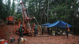A drill pad at Columbus Gold's Montagne d'Or gold property in French Guiana. Credit: Columbus Gold.