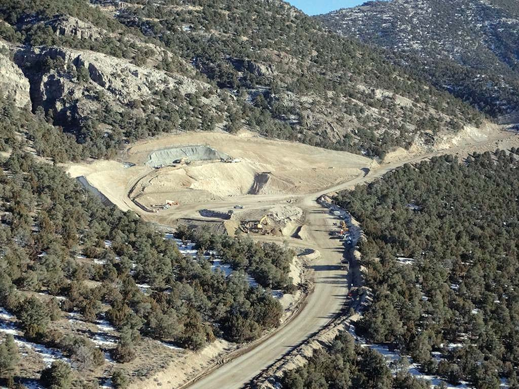 An aerial view of Barrick Gold's Goldrush gold project in Nevada. Credit: Barrick Gold.