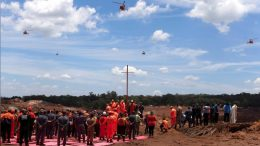 Rescue workers attend a mass for victims of Vale's collapsed tailings dam near Brumadinho, Brazil. Credit: Reuters.