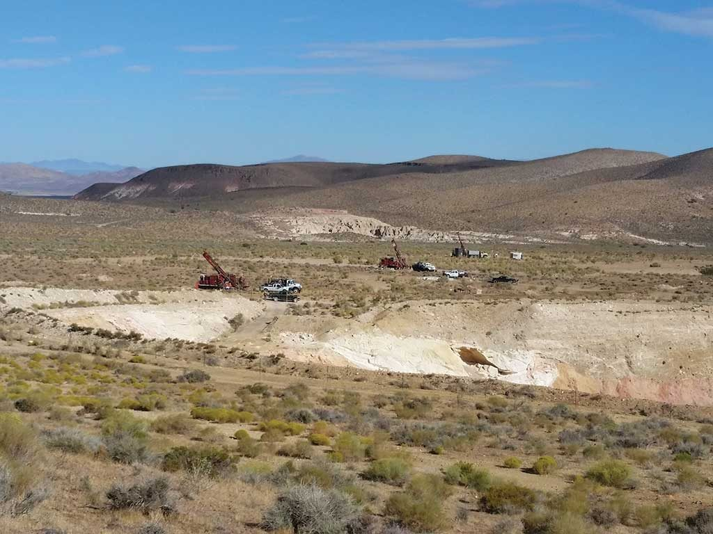Drills on Corvus Gold's Mother Lode project in Nevada's Nye County. Credit: Corvus Gold.
