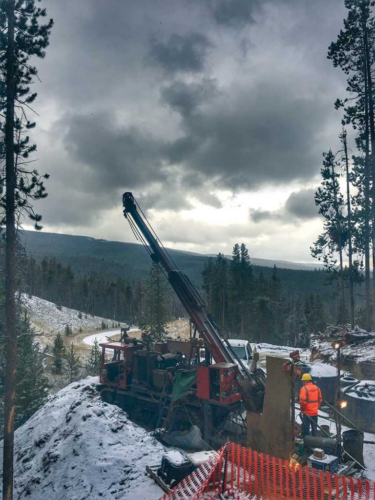 A drill at Revival Gold's Beartrack gold project in Idaho. Credit: Revival Gold.