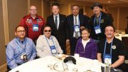 Greg Rickford (back row, second from left), Ontario Minister of Northern Development and Mines, Energy and Indigenous Affairs, with representatives from First Nations at the 2019 PDAC convention in Toronto. Credit: Ontario Ministry of Northern Development and Mines, Energy and Indigenous Affairs.