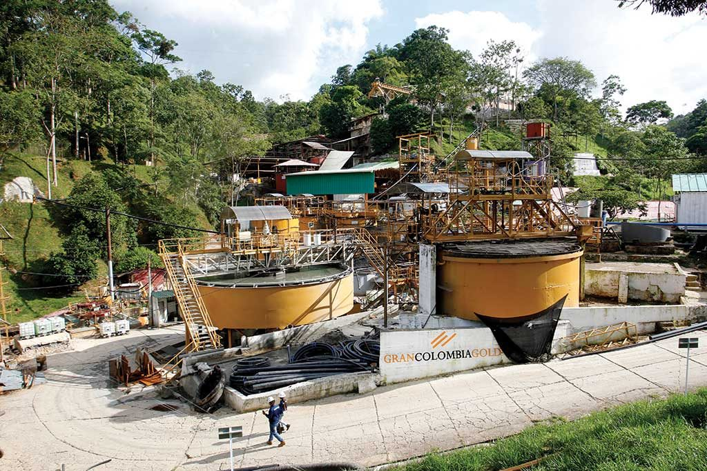 The processing plant at Gran Colombia Gold's Segovia gold mine in Antioquia, Colombia. Credit: Gran Colombia Gold.