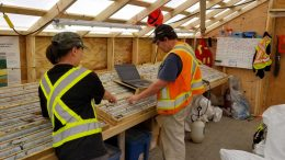 Skeena geologists at the Eskay Creek core shack. Credit: Skeena Resources.