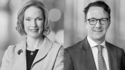 Rebecca Campbell and John Tivey, partners at law firm White & Case. Credit: White & Case.