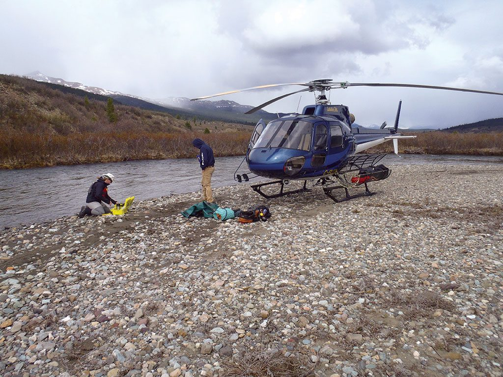 Water-quality sampling at Kutcho Copper's namesake project in British Columbia. Credit: Kutcho Copper.