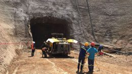 An access and ventilation tunnel under construction on the south side of Ivanhoe Mines' Kakula copper deposit in the Democratic Republic of the Congo. Credit: Ivanhoe Mines.