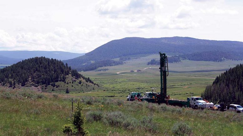 A drill rig at Sandfire Resources America's Black Butte copper project in Montana. Credit: Sandfire Resources America.