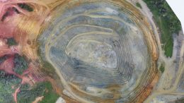 An aerial view of the pit at Guyana Goldfields' Aurora gold mine in Guyana. Credit: Guyana Goldfields.