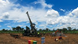 A drill rig at Ivanhoe Mines' Kamoa North copper project in the Democratic Republic of the Congo. Credit: Ivanhoe Mines.