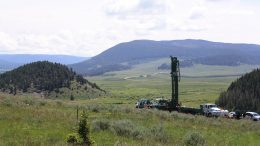 A drill rig at Sandfire Resource America's Black Butte copper project in Montana. Credit: Sandfire Resources America.