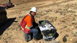 A geologist at Integra Resources' DeLamar gold property in Idaho. Credit: Integra Resources.