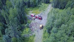 A drill rig at Great Bear Resources' Dixie gold property in Ontario's Red Lake district. Credit: Great Bear Resources.