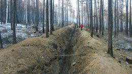 A trench at Orsu Metals' Sergeevskoe gold project in southeastern Siberia. Credit: Orsu Metals.