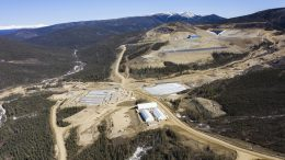 Victoria Gold's near-complete Eagle Gold Mine at Dublin Gulch, in Central Yukon, where first gold is expected to be poured in September 2019. Credit: Victoria Gold.
