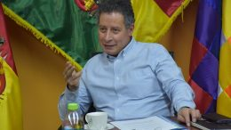 Cesar Navarro, Bolivia's Mining and Metallurgy Minister, in his office in La Paz, Bolivia. Credit: Bolivian Ministry of Mining and Metallurgy.