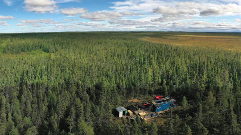 A drill rig at Wallbridge Mining's Fenelon gold project in northwestern Quebec. Credit: VRIFY.