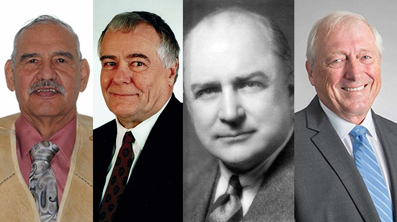 The Canadian Mining Hall of Fame's class of 2020: P. Jerry Asp, Alex G. Balogh, Hans T. F. Lundberg and Eberhard (Ebe) Scherkus.