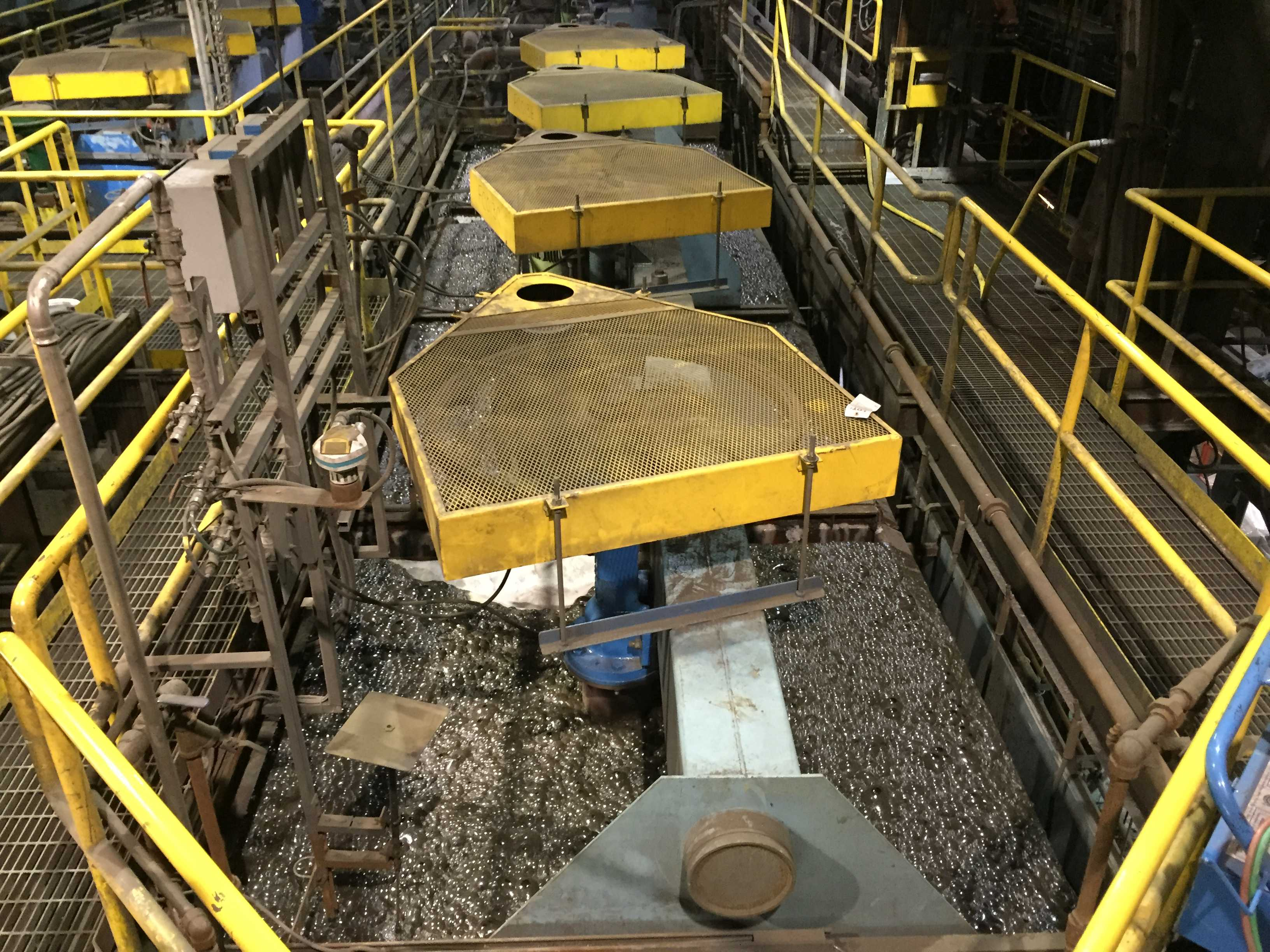 A sulphide flotation recovery cell at Trevali Mining's Caribou zinc mine in northern New Brunswick. Credit: Trevali Mining.