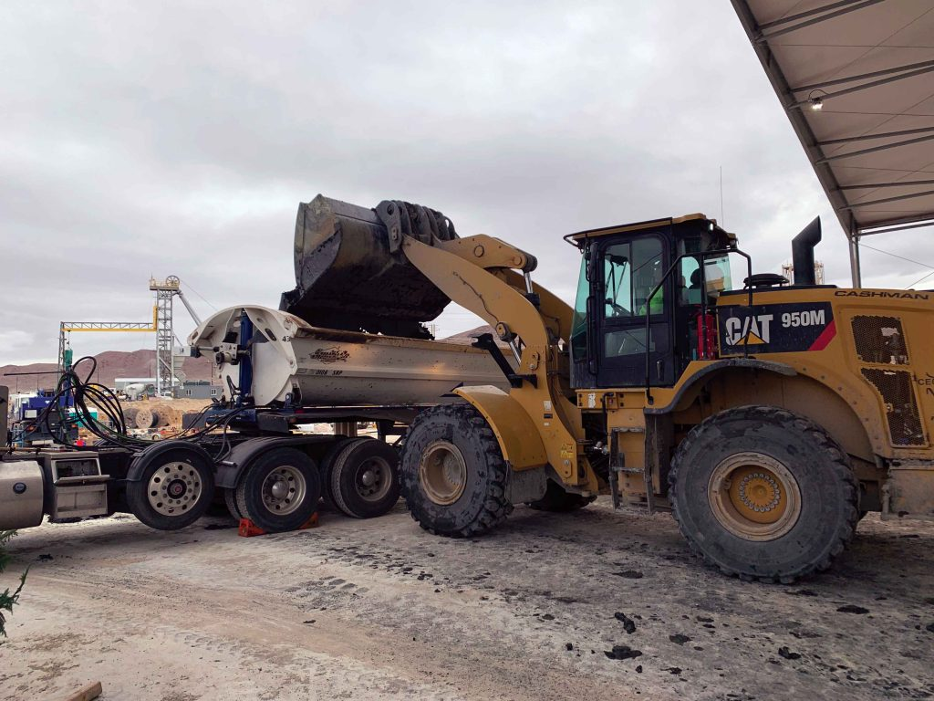 Loading a truck at Pumpkin Hollow. Credit: Nevada Copper Corp.
