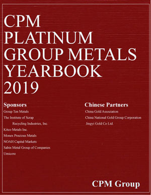CPM Platinum Group Metals Yearbook 2019