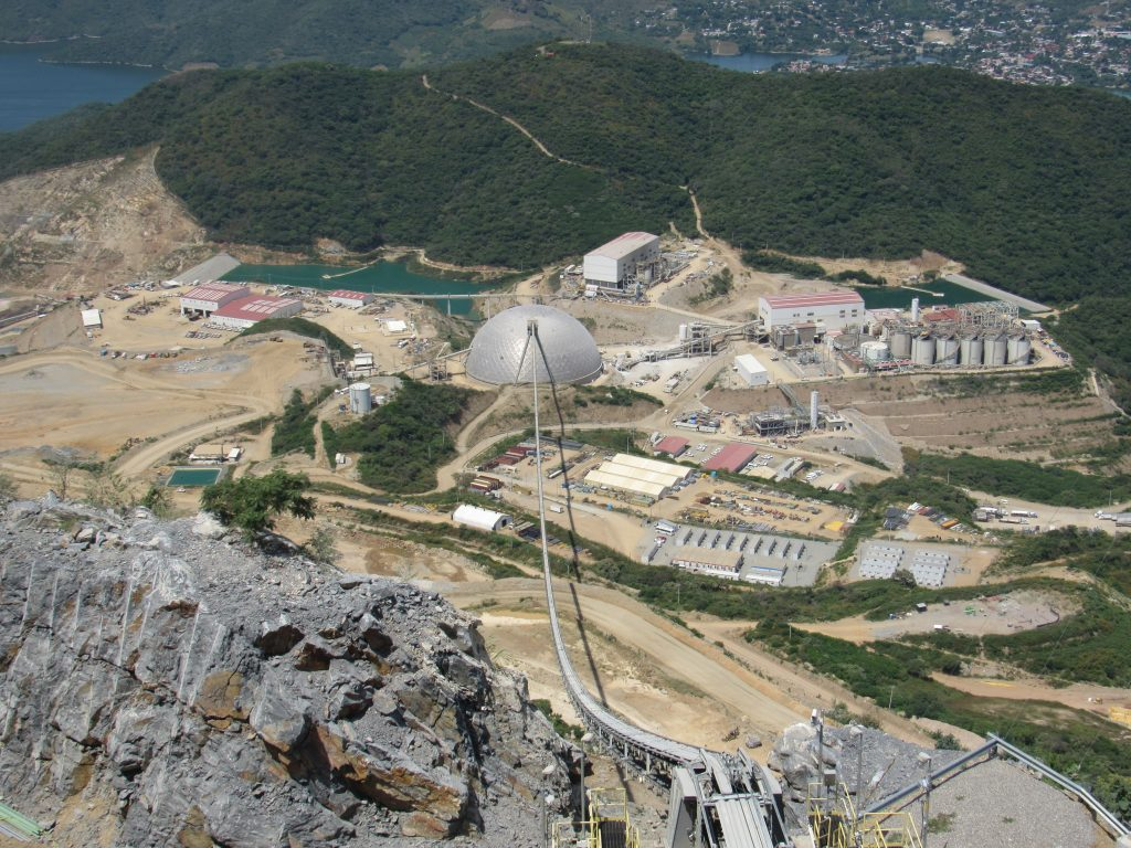 Aerial view of Torex Gold's ELG mine complex in Mexico's Guerrero state