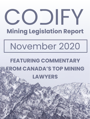 Codify Mining Legislation Report November - 2020