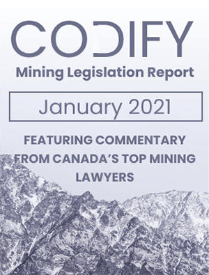 Codify Mining Legislation Report January - 2021